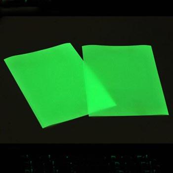 Glow in dark ink jet print paper